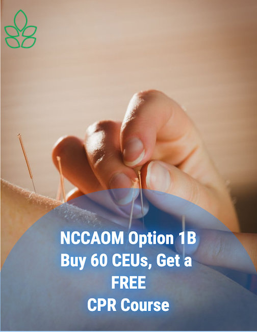 NCCAOM Acupuncture CEU Package Buy 60 Get FREE CPR Course 2